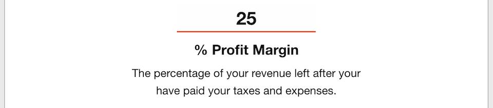 Business Goals - Profit Margin