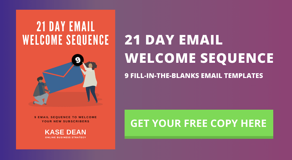 21 DAY EMAIL WELCOME SEQUENCE
