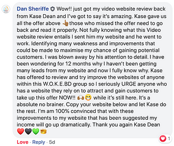 Dan_Sheriffe Review Feedback