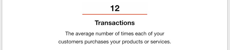 Business Goals - Transactions