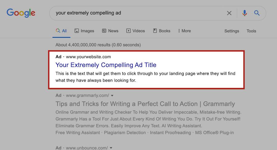 Google Ad Example Image