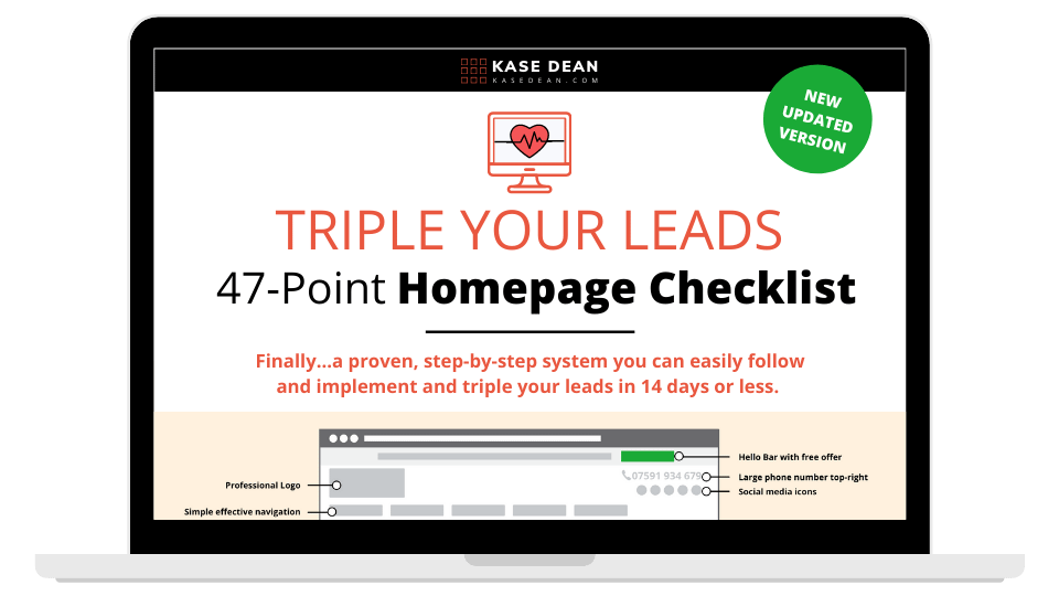 Ultimate Homepage Checklist - Laptop Mockup