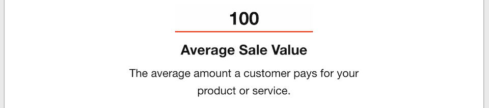Business Goals - Average Sales Value