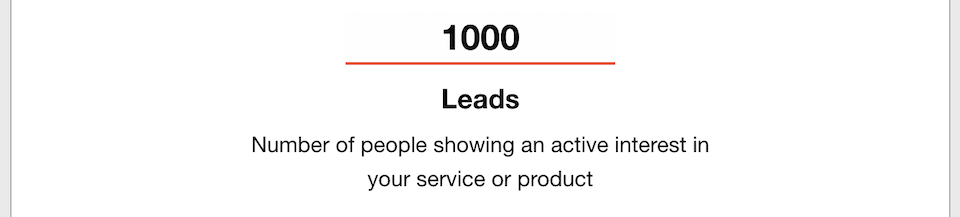 Business Goals - Leads