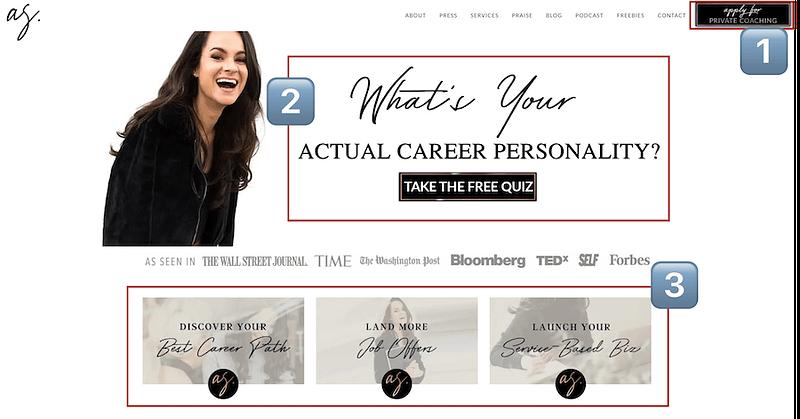 Ashley Stahl Homepage
