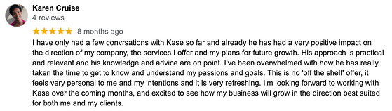Karen Cruise Google Review